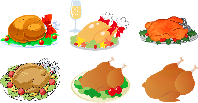 Turkey Dinner, Thanksgiving, Christmas, Dinner, Holiday