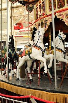 Carousel, Horses, Year Market, Oktoberfest, Fun