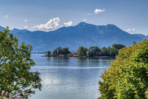 Landscape, Upper Bavaria, Chiemsee, Ladies Island
