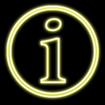 Neon Info, Info, Neon, Information, Help, Icon, Logo