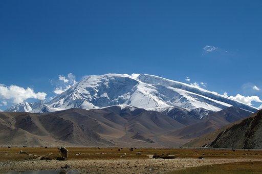 Muztagata, Pamir, Mountain, Landscape, China, Xinjiang