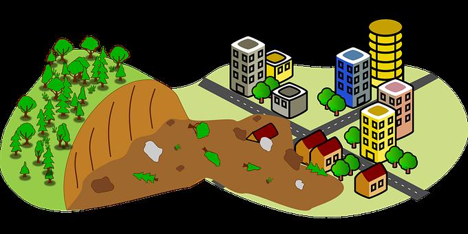 Emergency, Disaster, Landslide, Landslip, Mudslide