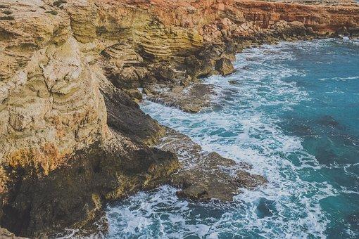 Rocky Coast, Rough Sea, Landscape, Nature, Rock, Shore