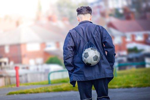 Adult, Ball, Balloon, Boy, Daytime, Footballer