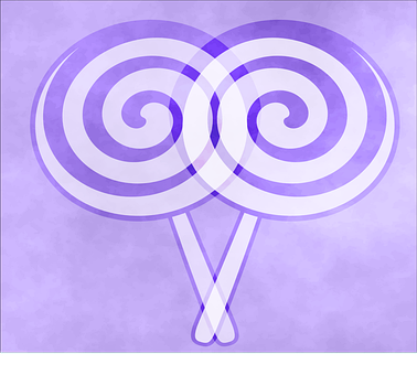 Lollipop, Purple, Circle, Design, Colorful, Color, Pink