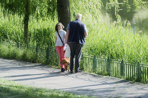 People, Family, Dog, Nature, Alley, Park