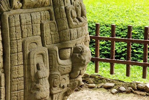 Honduras, Copán, Stone, Engraving, Maya