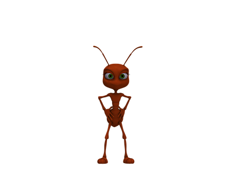 Ant, Insect, Red Ant, Funny