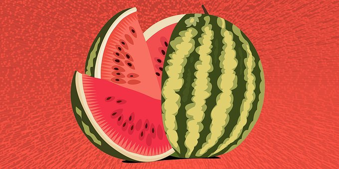 Watermelon, Fruit, 3d Background, Red Fruit, Food