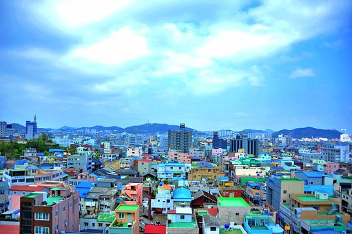 Mokpo, City, Building, Sky, Town, Architecture, Travel