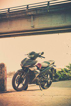 Backpacking, Travel, Motorcycle, Sea, Light, Freestyle