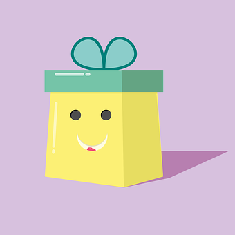 Gift Box, Surprise, Smile, Birthday, Package, Ribbon