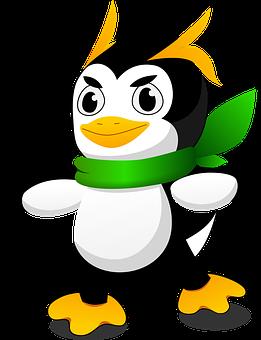 Penguin, Cartoon, Mascot, Linux, Animal, Cute, Bird