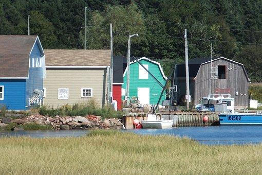 Boat Shed, Boat, Prince Edward Island, Peaceful, Canada