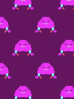 Critter, Purple, Crab, Cute, Creature, Cartoon