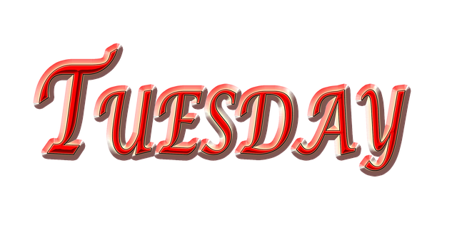 Tuesday, Day, Weekday, Red Tuesday
