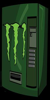 Soda Machine, Machine, Monster, Energy, Soda, Beverage