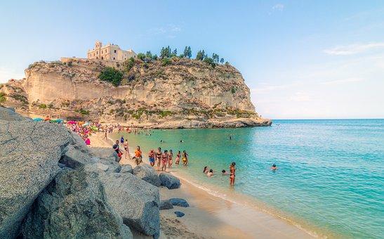 Kalabria, Italy, Holiday, Sea, Summer, Beach, Noon