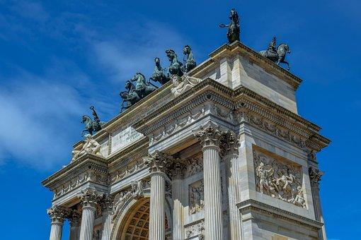Arco Della Pace, Arc, Milan, Milano, Italy