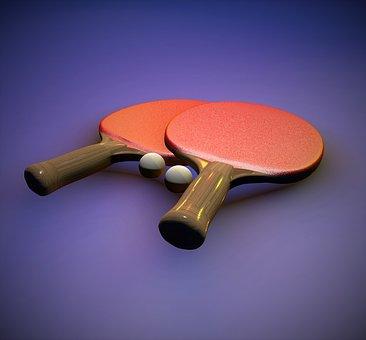 Table Tennis, Ping-pong, Bat, Ping Pong