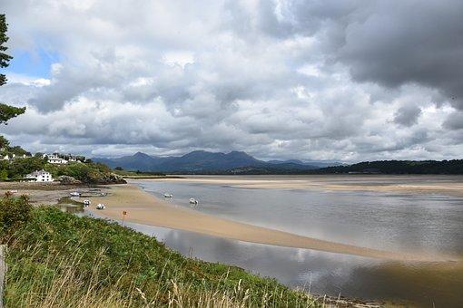 Borthygest, Estuary, Landscape, Wales, Uk, Scenic