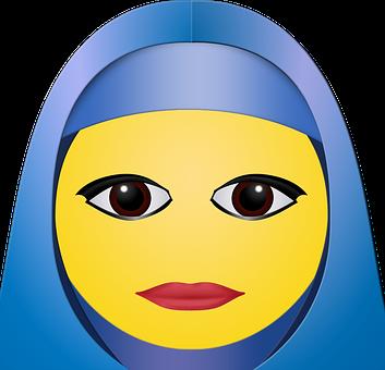 Graphic, Hijab, Woman, Emoticon, Smiley, Happy, Fashion