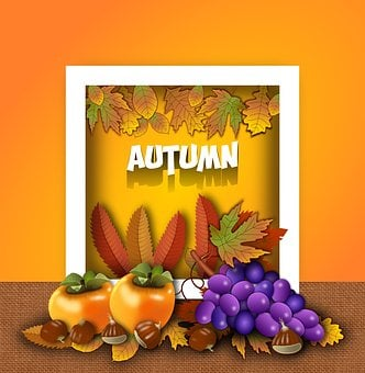 Autumn, Seasonal, Station, Fruits, Floral, October