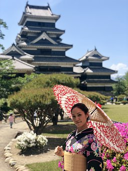 Japan, Castle, Kimono, Japanese, Palace, Travel