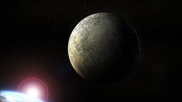 Moon, Earth, Planet, Universe