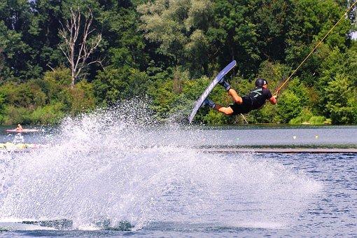 Athletes, Water, Wet, Trailing Plant, Lake, Pond, Speed