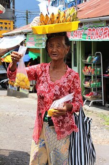 Portrait, Bali, Old Woman, Indonesian, Face, Character