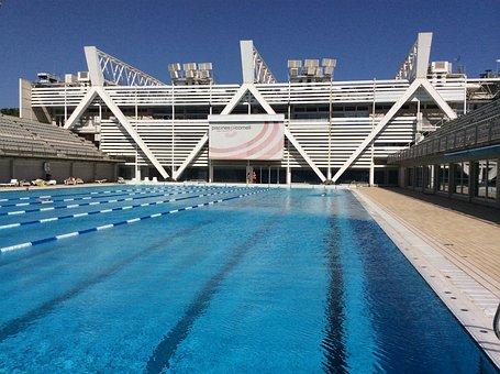 Swimming Pool, Outdoor Pool, Pool, Barcelona, Water