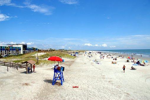 Beach, People, Lifeguard, Leisure, Vacation, Tourism