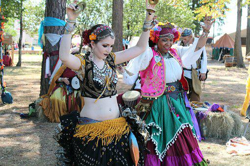 Dancers, Gypsies, Belly Dance, Faire, Woman