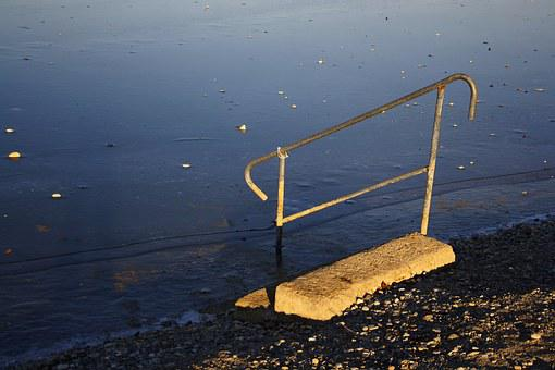 Staircase, Boarding Ladder, Lake, Schwarzlsee, Swim