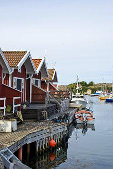 Hunnebostrand, Bohuslän, Sweden, Sea, Himmel, Water