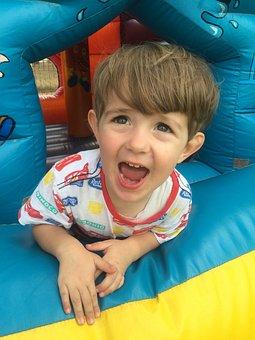 Boy, Jumping Castle, Castle, Child, Childhood, Fun