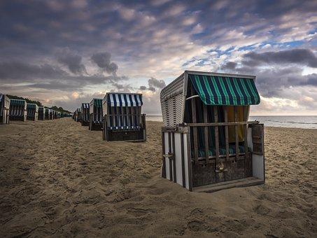 Beach Chair, Clubs, Beach, Sand, Sun, Summer