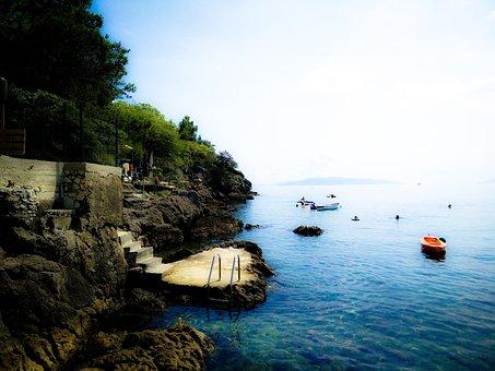 Croatia, Camping, Coast, Swim, Boats, Salt Water