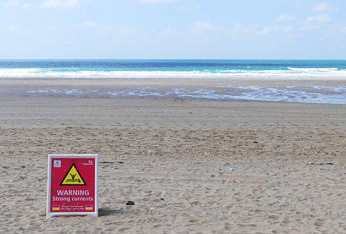 Beach, Warning, Sea, Summer, Sand, Ocean, Water, Danger