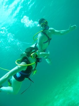 Diving, Diver, Scuba, Snorkel, Water, Activity, People