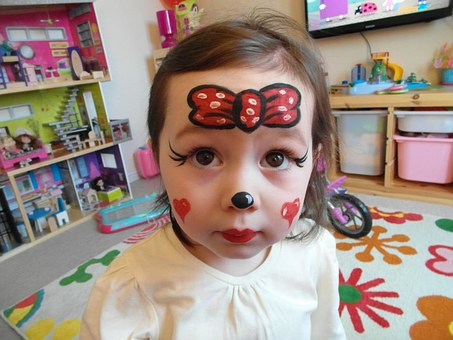 Child, Makeup, Face, Fun, Colorful, Daughter, Funny
