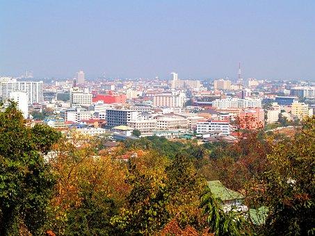 Pattaya, Thailand, Beach, Hill, Downtown, Sunlight