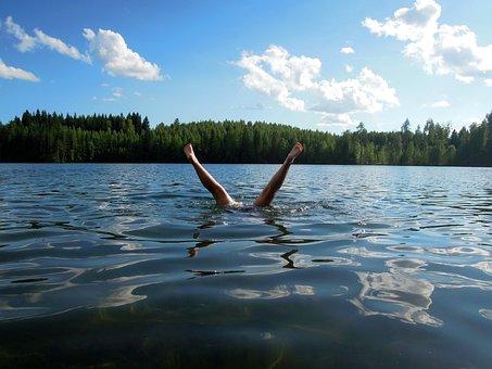 Child, Man, Girl, Finnish, Sky, Landscape, Water