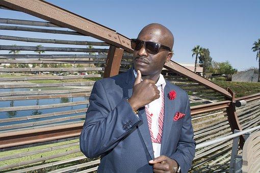Men, Tie, Color, Model, Black Skin, Handsome, Suit