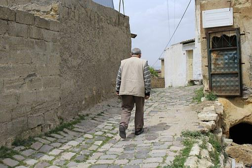 Old Street, Man, Person, Walking, Country Life