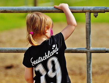 Girl, Climb, Curious, Gate, Play, Out, Nature, Human