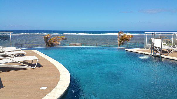 Swimming Pool, Relaxation, Overflow, Seaside, Palm