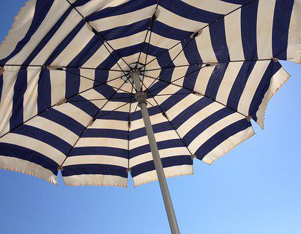 Parasol, Holiday, Sky, Sea, Beach, Summer, Swim, Sun