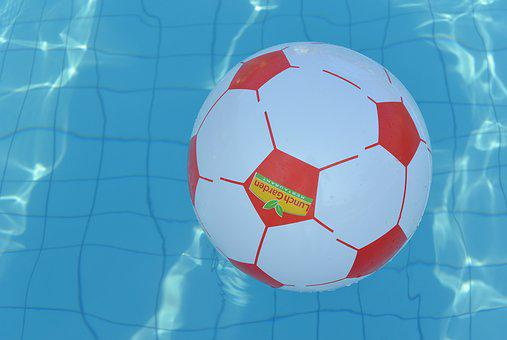 Swimming Pool, Water, Ball, Play